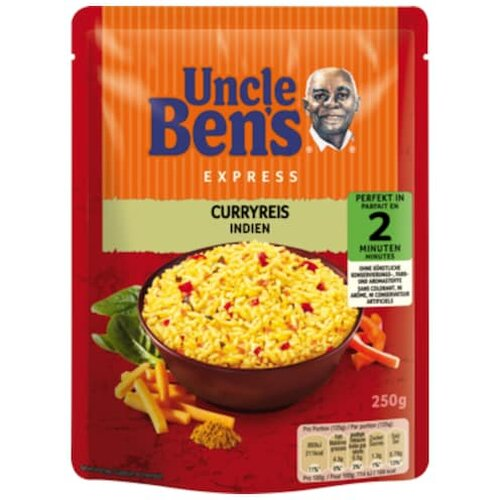 Uncle Bens Express Reis Curry 250g