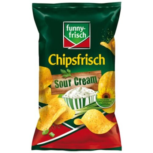 funny-frisch Chipsfrisch Sour Cream & Wild Onion 175g