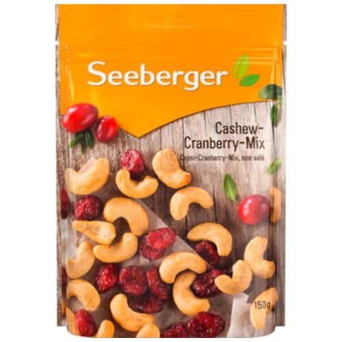 Seeberger Cashew Cranberry Mix 150g