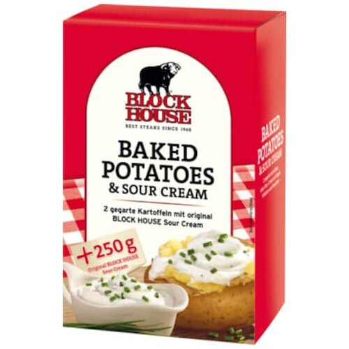 Block House 2 Baked Potatoes mit Sour Cream 650g