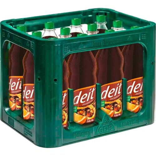 deit Cola Mix Citrus 12x1l Kiste