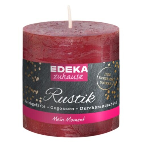 EDEKA Rustik Stumpe bordeaux 8x7cm