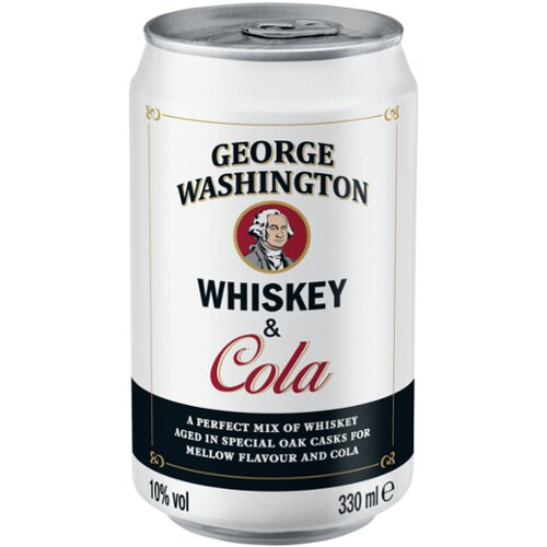 George Washington Whisky  & Cola 10% 0,33l