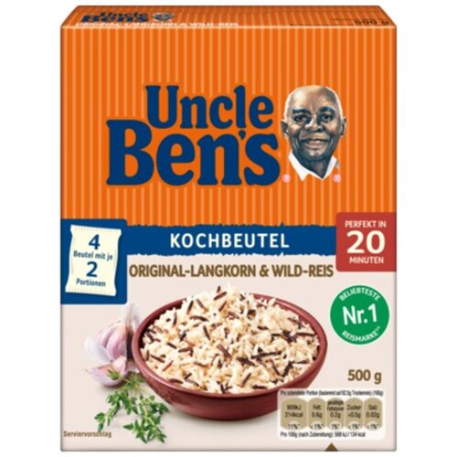 Uncle Bens Langkorn+Wildreis Kochbeutel 500g