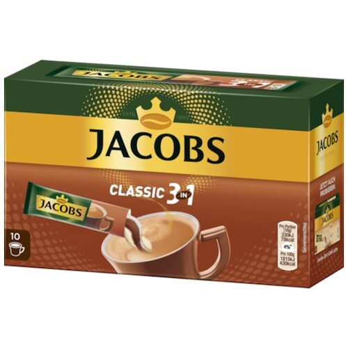 Jacobs Kaffee Instant Getränk 3in1 10ST 180g