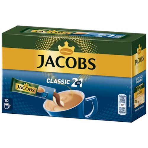 Jacobs Kaffee Instant Getränk 2in1 10ST 140g