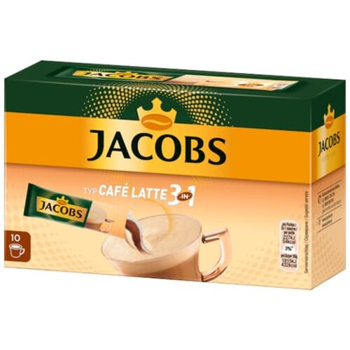 Jacobs 3in1 Kaffe Instant Getränk Cafe Latte 10ST 125g