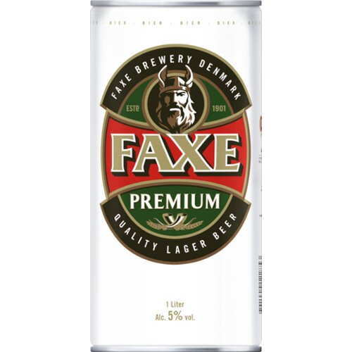 Faxe Premium Quality Lager Beer 1l
