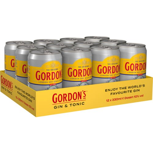 Gordons London Dry Gin&Tonic 10% 12x0,33l