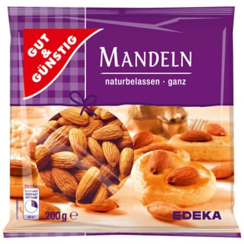Gut Gunstig Mandeln Ganz Natural 200g 2 39