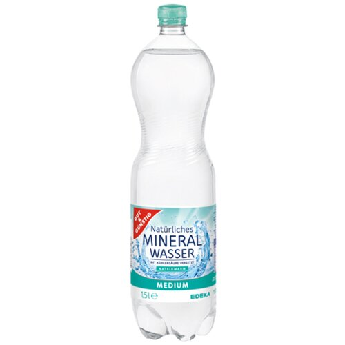 Gut & Günstig Mineralwasser medium 1,5l