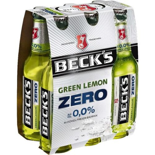 Becks Green Lemon Zero 4er 6x0,33l Kiste