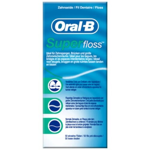 Oral B Super Floss 50St