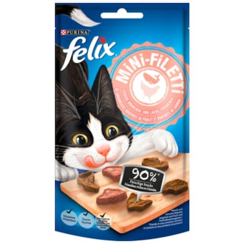 Felix mini Filet Huhn & Lachs 40g