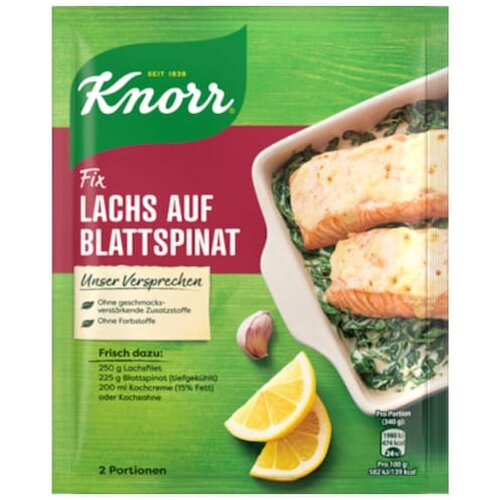 Knorr Fix Lachs Spinat 28g