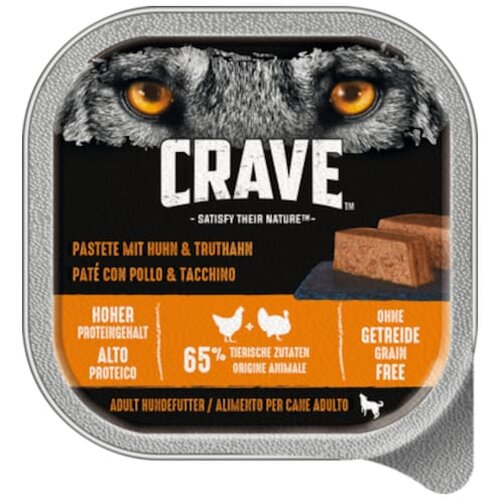Crave Hund Past.Huhn+Trut.300g