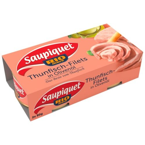 Saupiquet Thunfisch Filet in Olivenöl 2x80g