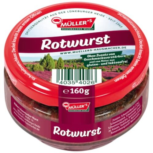 Müllers Rotwurst 160g